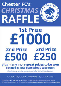 Chester FC Christmas Raffle Draw 2018 – City Fans United